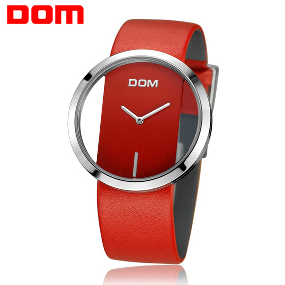 Women Watch DOM Brand luxury Fashion Casual Unique Lady Wrist watches leather quartz waterproof Stylish