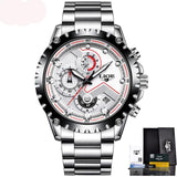 LIGE Watch Men Fashion Sport Quartz Clock Mens Watches Top Brand Luxury Full Steel Business Waterproof Watch