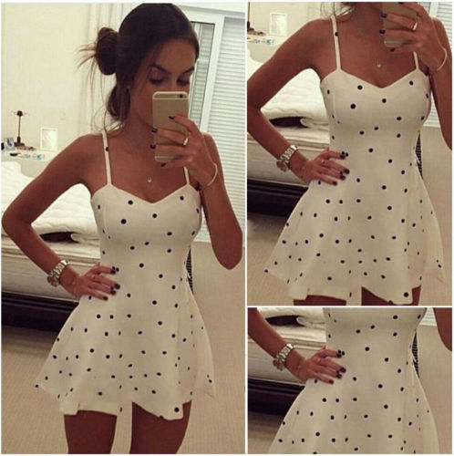 Sought-After Womens Sexy Boho Short Mini Dresses Ladies Summer Beach Party Sundress Size 6-14
