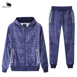 2 pieces Tracksuit Hoodie and Pants with Reflective Strips