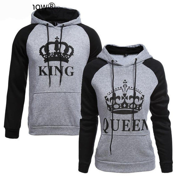 2018 KING Queen Crown Print Unisex Men Women
