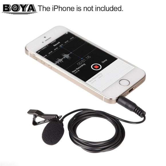 Phone Audio Video Recording Microphone for iPhone 6 5 4S 4 Sumsang GALAXY 4 LG G3 HTC