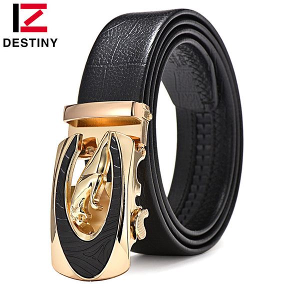 JAGUAR Designer Belts Men High Quality Male Genuine Leather Strap Waist Luxury Brand Wedding Belt Jeans Ceinture Homme Fashion