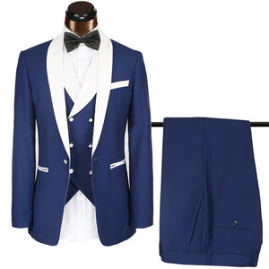 Luxury brand Suits Mens 3 Pieces quality Suit Man Party Blazer Sets