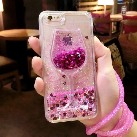 IPhone 6 6s 7 Plus Fashion 3D Transparent Wine Glass Phone Case for iPhone 8 Case