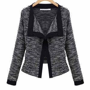 New Fashion Women Slim Fit Blazer Jacket Coat Patchwork Small Suit Casual Long Sleeve Cardigan Coats Work Blazer Coat WDC449