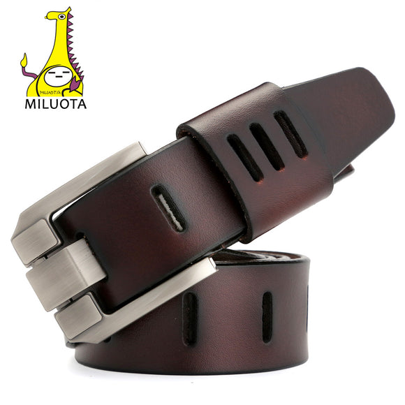 Designer Belts Men High Quality Genuine Leather Belt for Men Luxury Ceinture Homme Military Style 130CM MU012