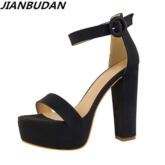 Brand Elegant sandals Women High Heels Pumps Super high heel 13cm Women's Banquet sandals waterproof platform toe sandals