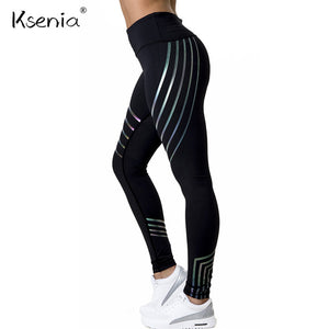 Laser Colorful Fashion High Waist fitness legging 2018