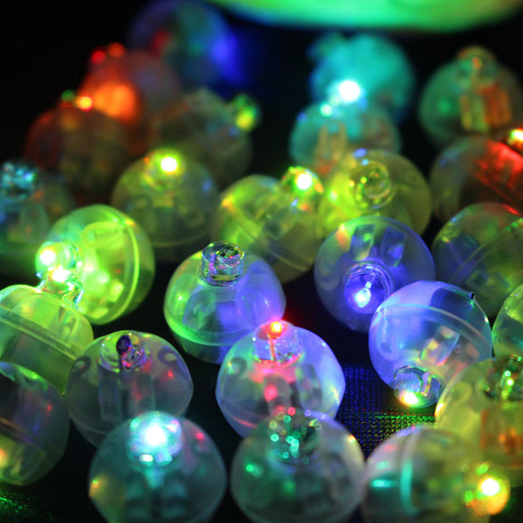 100Pcs/lot Color Round Mini Led RGB Flash Ball Lamp Lantern Balloon Lights For Easter, Christmas, New Year Deco and Wedding Party Decoration