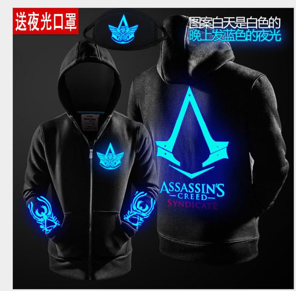 2018 Autumn Winter Assasins Creed Hoodie Men Black Cosplay