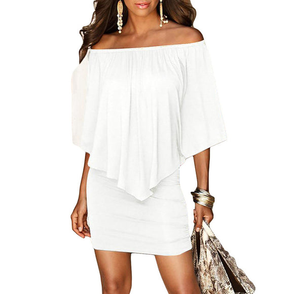 2018 Summer Style Off Shoulder Sexy Dresses