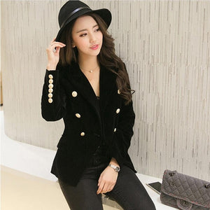 Small Suit jacket Women Gold Button