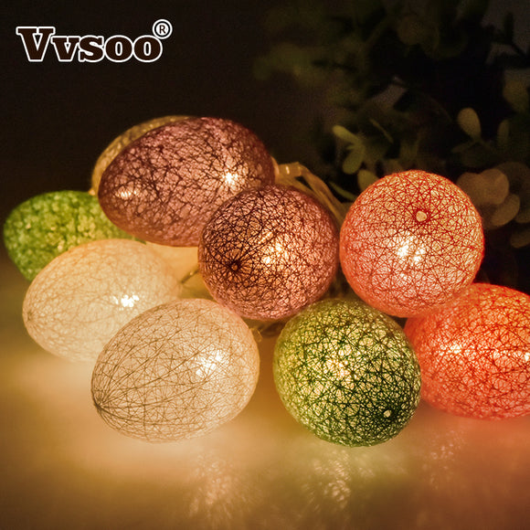 1.8M 10Pcs Easter Egg Led Light for Easter Party Decoration Wedding Decoration for Home Lamp String Lights