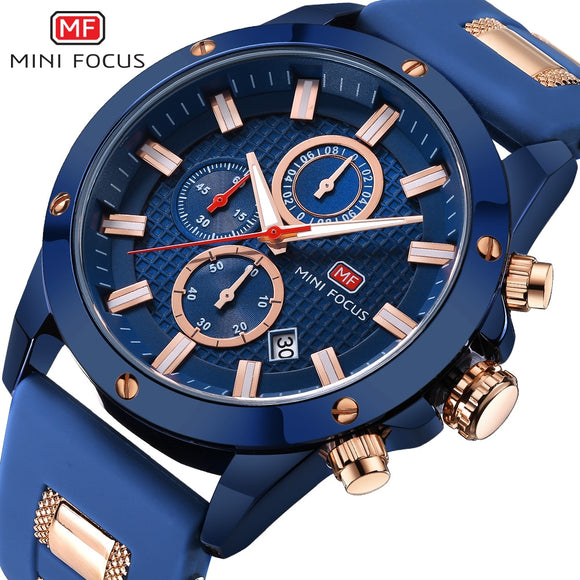 2018 Men's Fashion Sport Watches MINIFOCUS Waterproof Watch