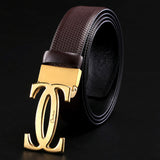 2018 new design cow leather belt high quality for men genuine leather trousers first layer