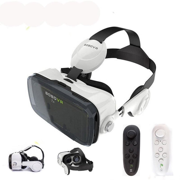 AMAZING Virtual Reality 3D Glasses VR Headset earphone movie for Google cardboad Bluetooth Controller