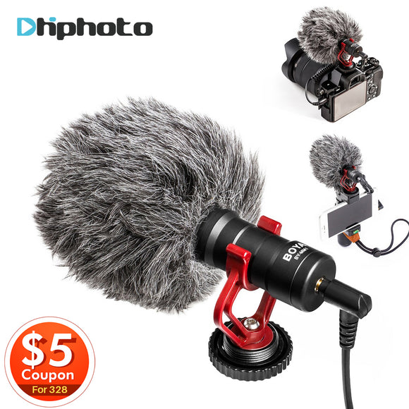 Video Microphone Youtube Recording Mic for iPhone Nikon Canon