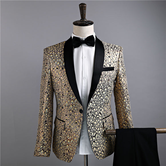 Suits Jackets Golden Mens