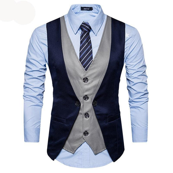 Brand Men Vest Suit British Style Wedding