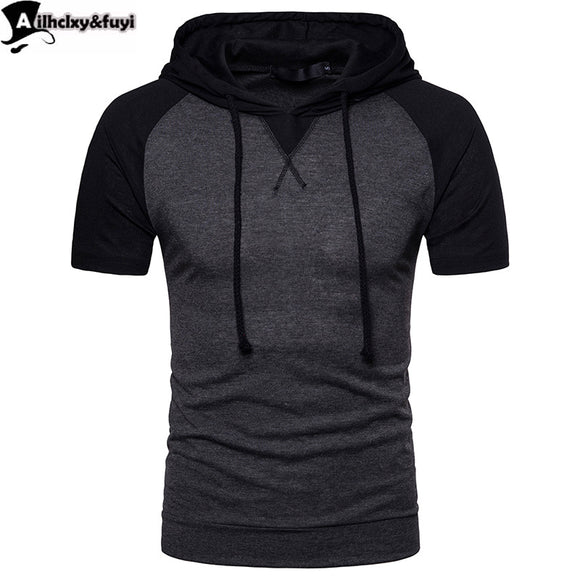 NEW  Hoodies Men Slim Fit With Black Gown Hip Hop Sweatshirt Hoodie Short sleeve Sweatshirt Casual Hooded Assassins Creed