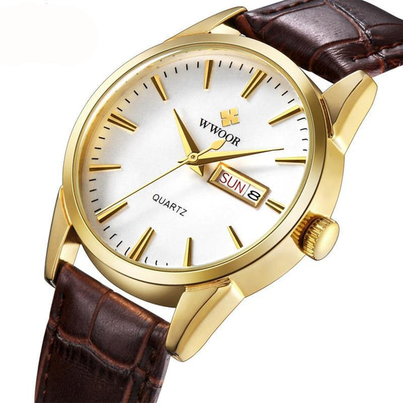 Men Watches Top Brand Leather Clock Luxury