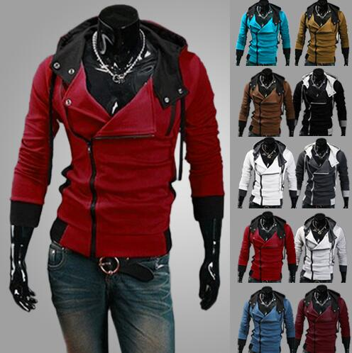 Male Tracksuit Hooded Jacket Casual  Male Hooded Jackets moleton Assassins Creed