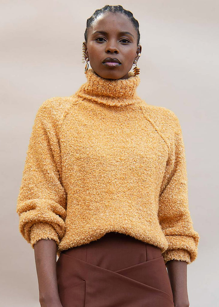 Shop MmusoMaxwell Melange Boucle Turtle Neck on The Folklore