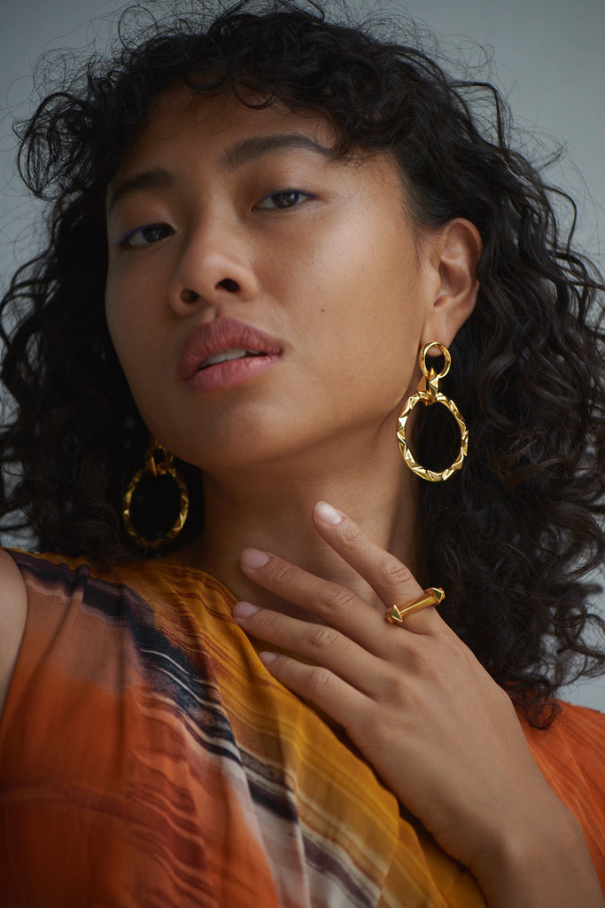 Prizm Drop Earrings and Arc Ring by Third Crown