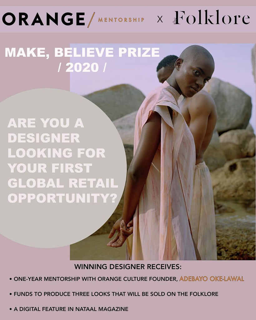 The Folklore and Orange Culture Make, Believe Prize 2020