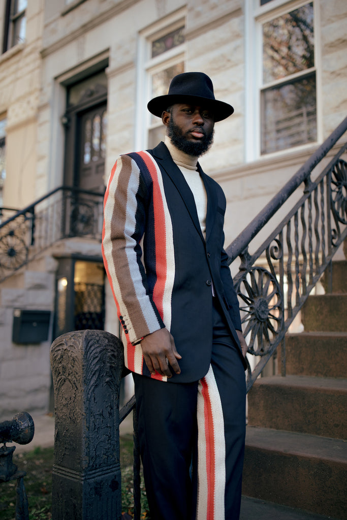 Stripe Suit Jacket and Stripe Suit Trousers by Tokyo James