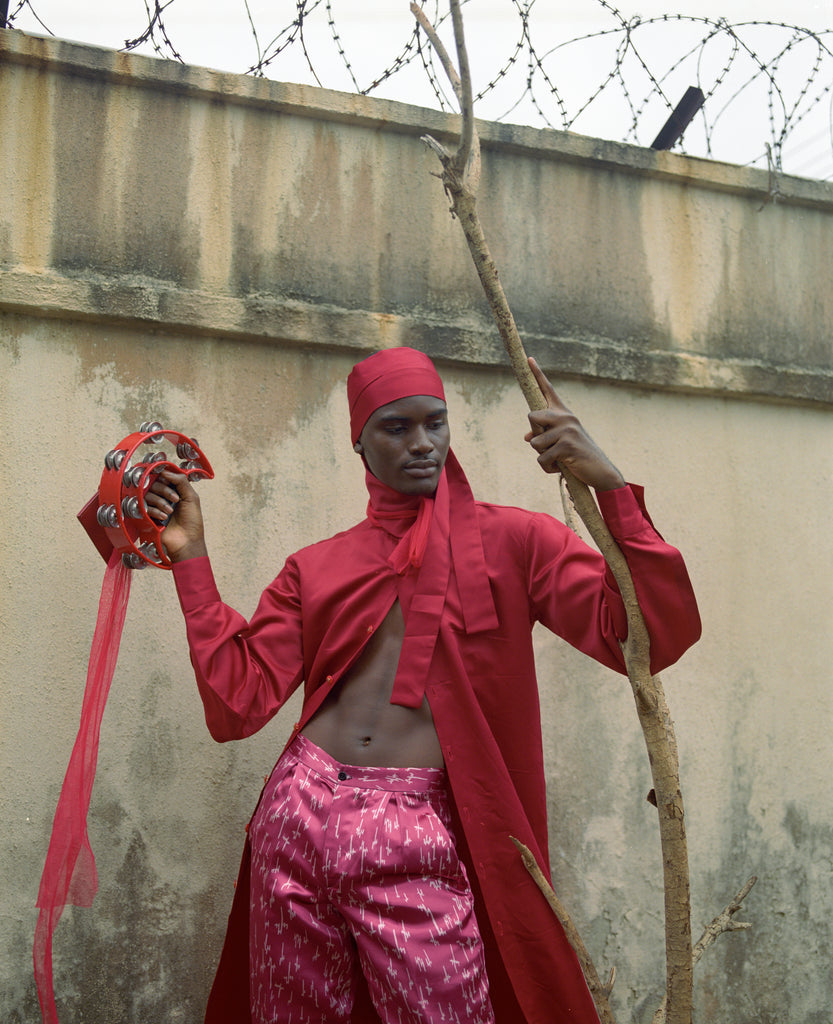 Nigerian Menswear Brand Orange Culture Afrofuturism Fashion Editorial Styled by Daniel Obasi Photographed by Jesse Navarre Vos