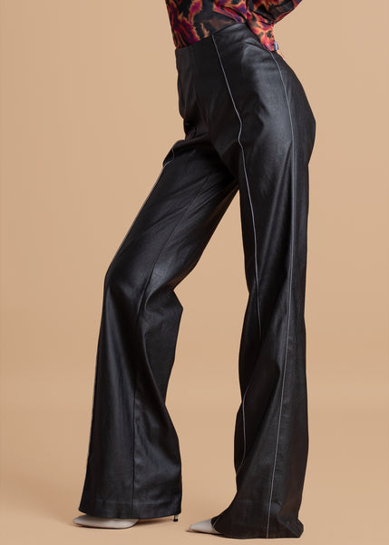 Shop PU High-Waisted Vegan Leather Pants by CLAN