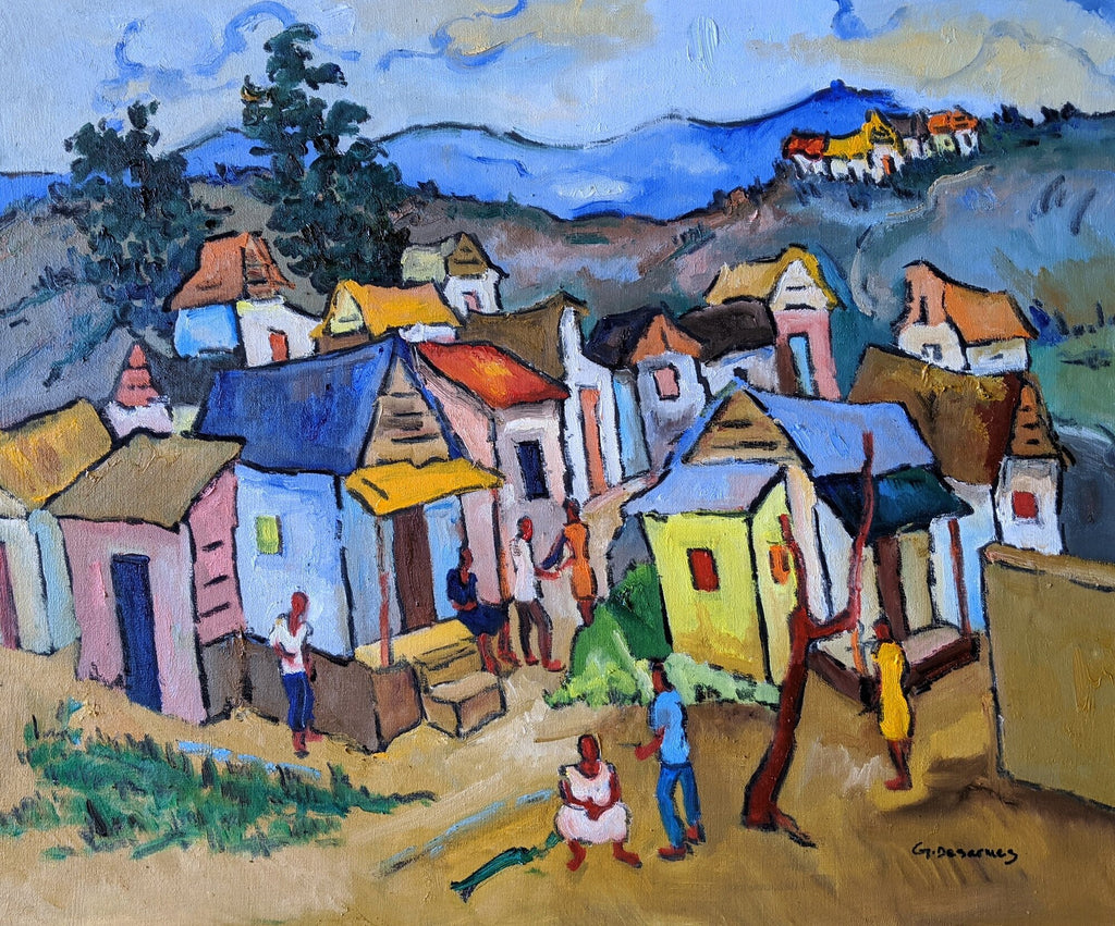 """""""The Yellow House"""" by Georges Desarmes."""