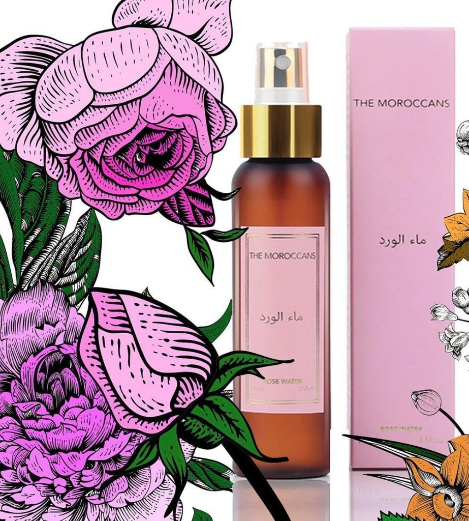Rose Water Facial Mist by natural skincare brand The Moroccans
