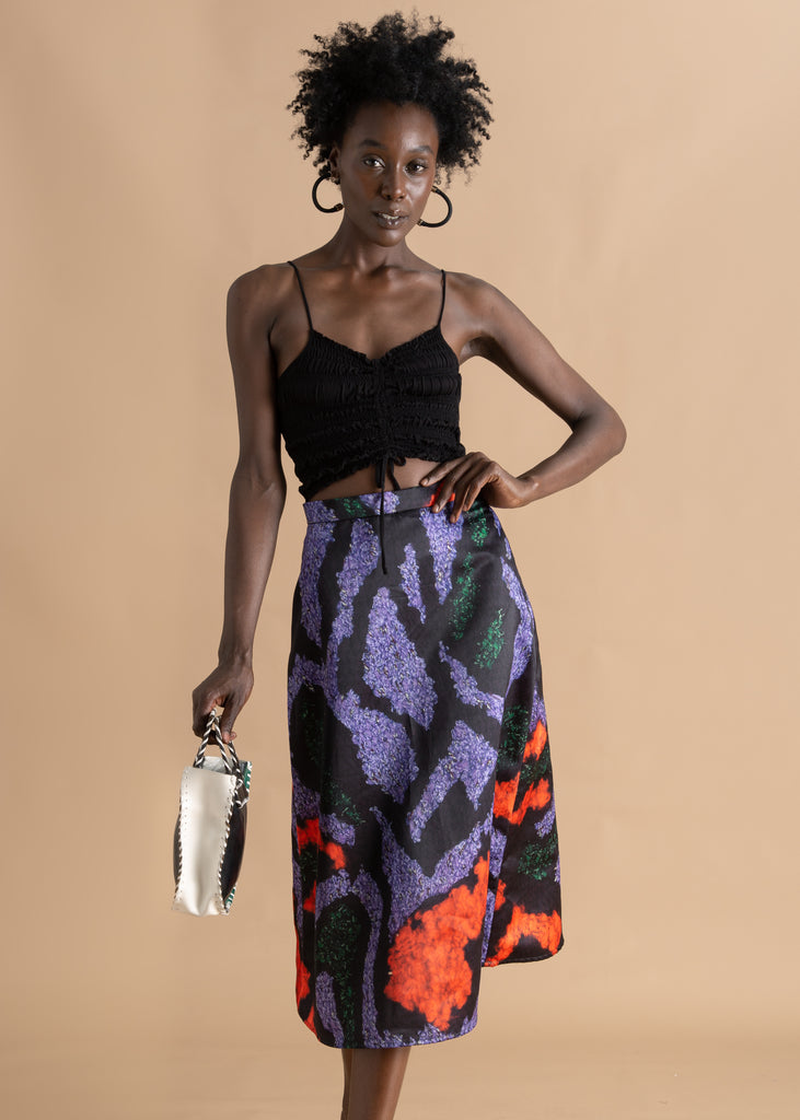 Nicholas Coutts Scarf Print A-Line Skirt