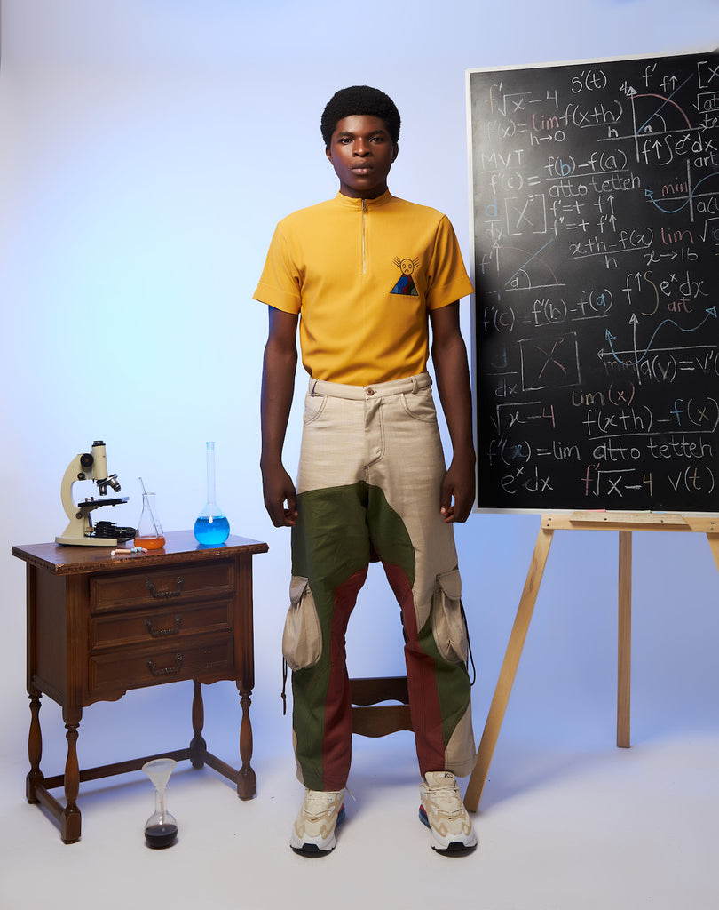 Shop the S Theorem T-Shirt and Multi-Layered Pants With String by Atto Tetteh