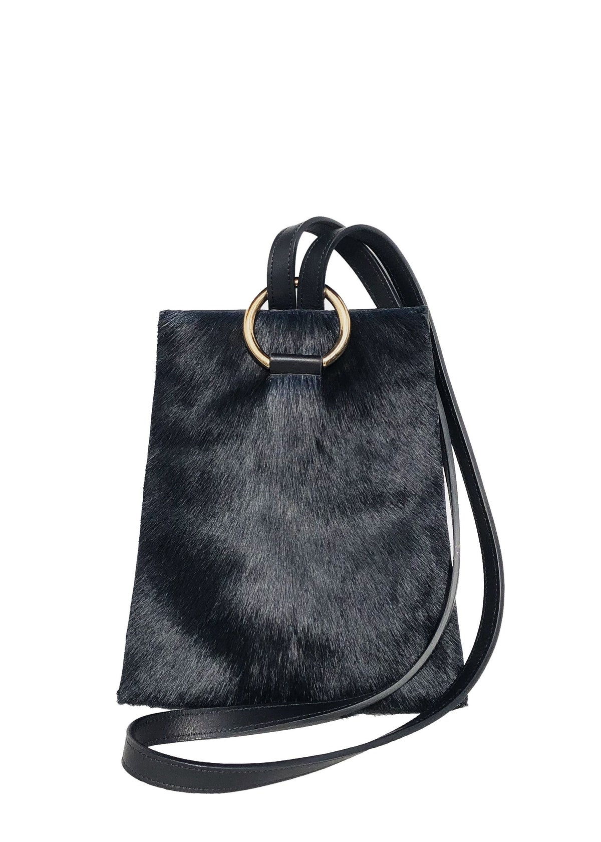 Thalia Strates soft leather springbok bag