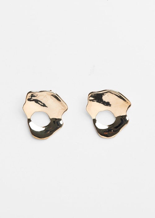 22k gold-plated brass lightweight earrings