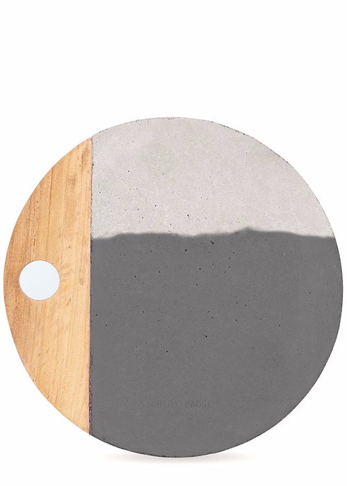 Afriyie Concrete Platter in Black and White