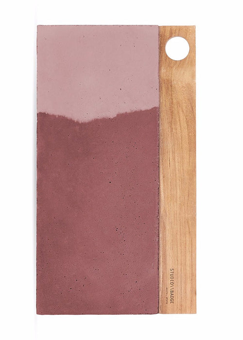 Aitch Concrete Platter in Dusty Rose Tones