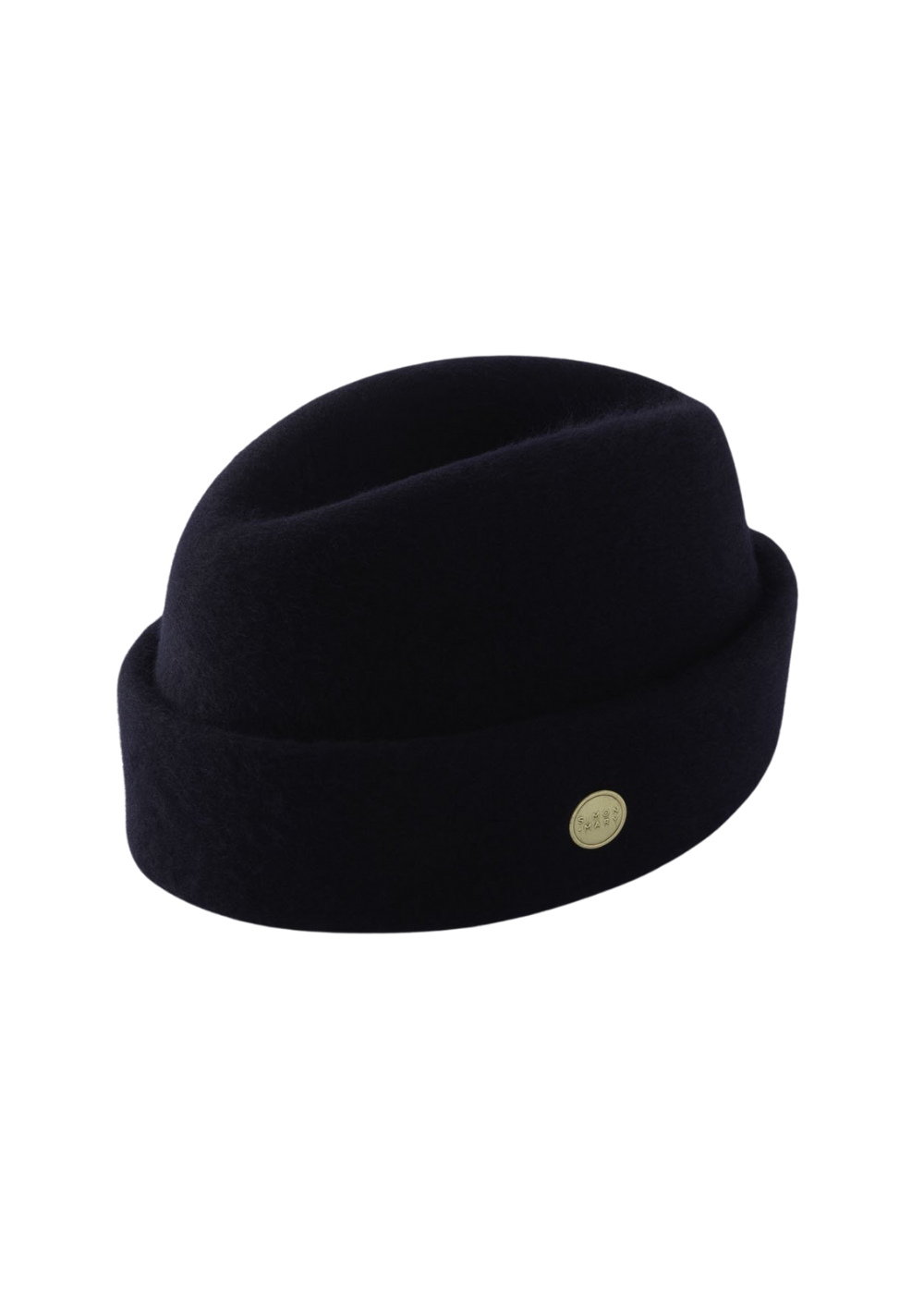 Navy Simon and Mary Wool Fez Military Hat