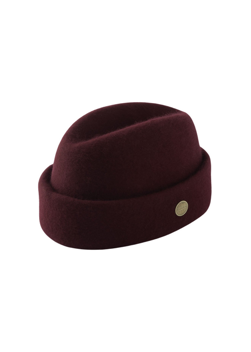 Burgundy Simon and Mary Wool Fez Military Hat