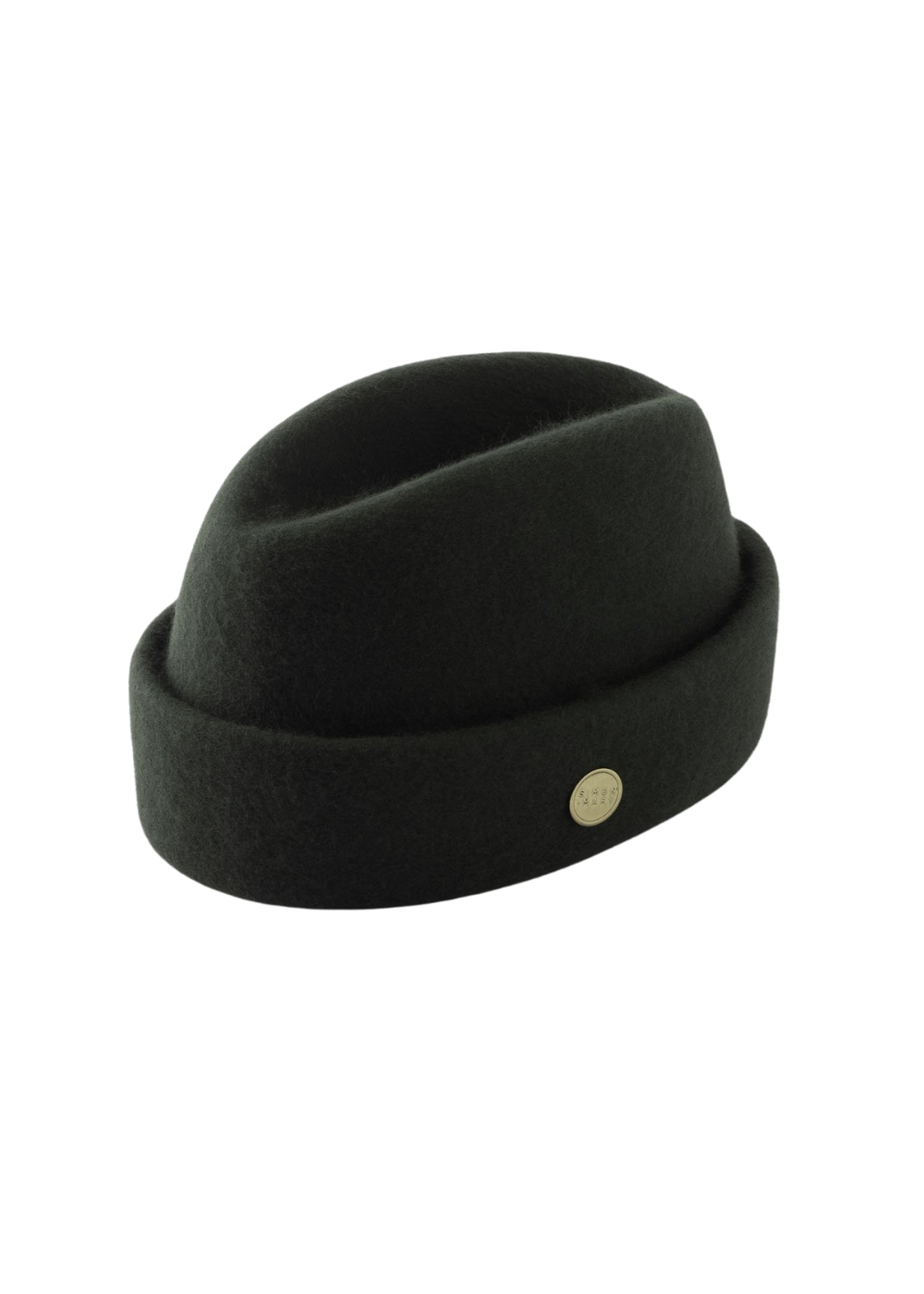 Olive Green Simon and Mary Wool Military Fez Hat