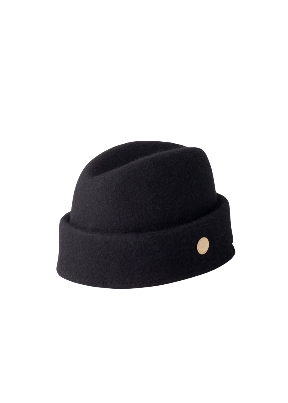Black Wool Simon and Mary Military Fez Hat