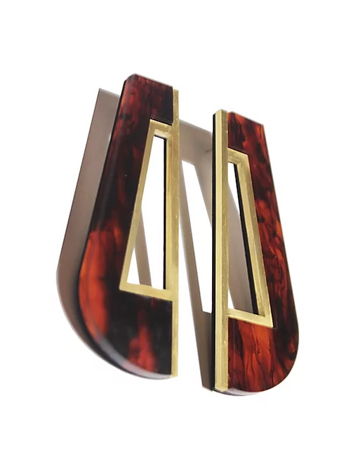 Tortoiseshell Akua Earrings