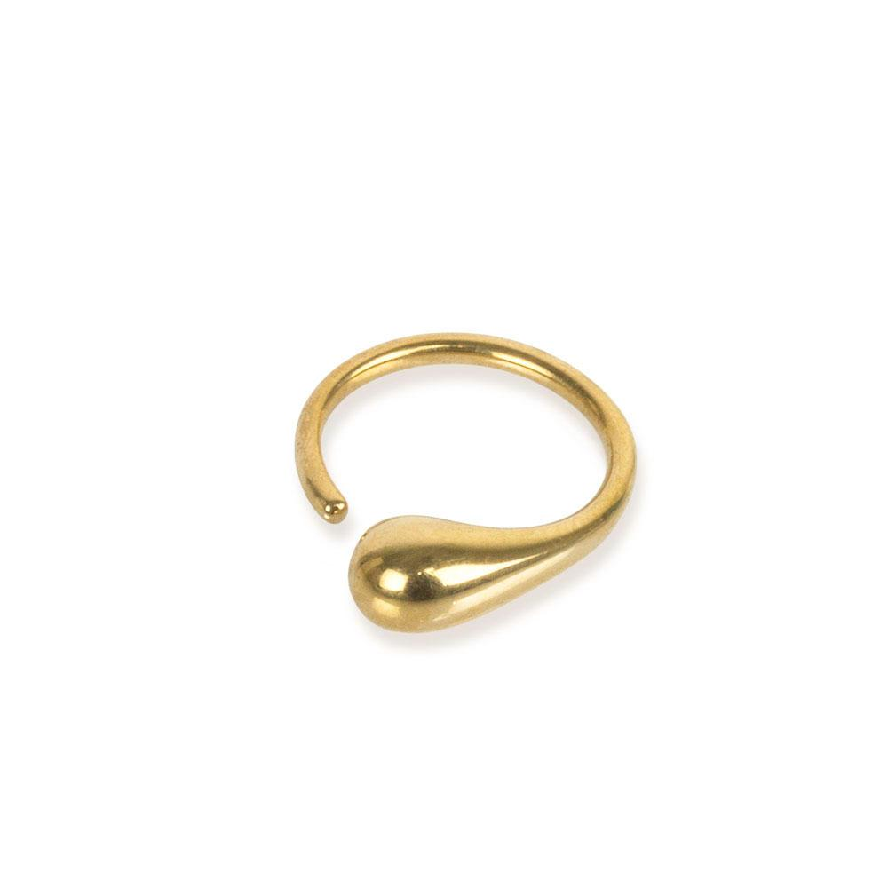 Soko 24k gold-plated brass Delicate Dash Ring