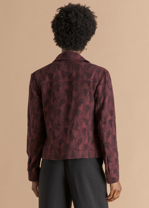 Nicholas Coutts burgundy textured jacket