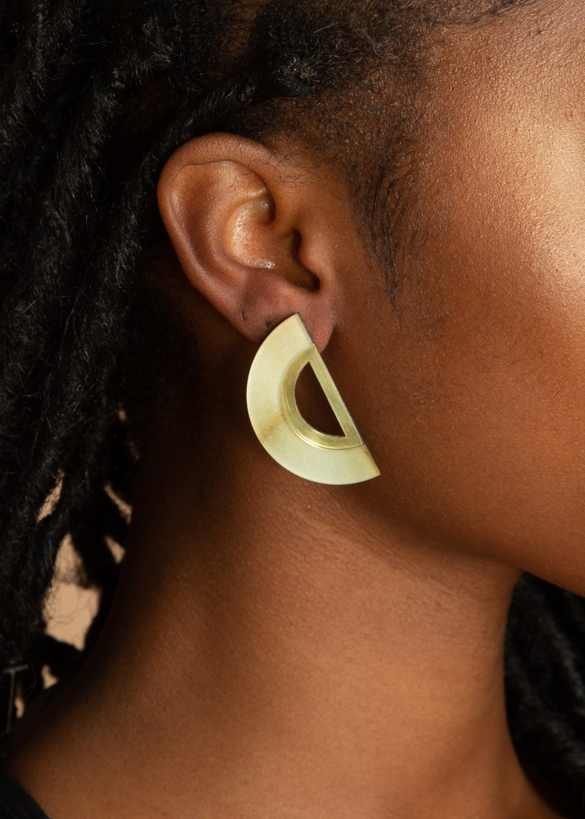 Chalk Green Marble Eshe Earrings