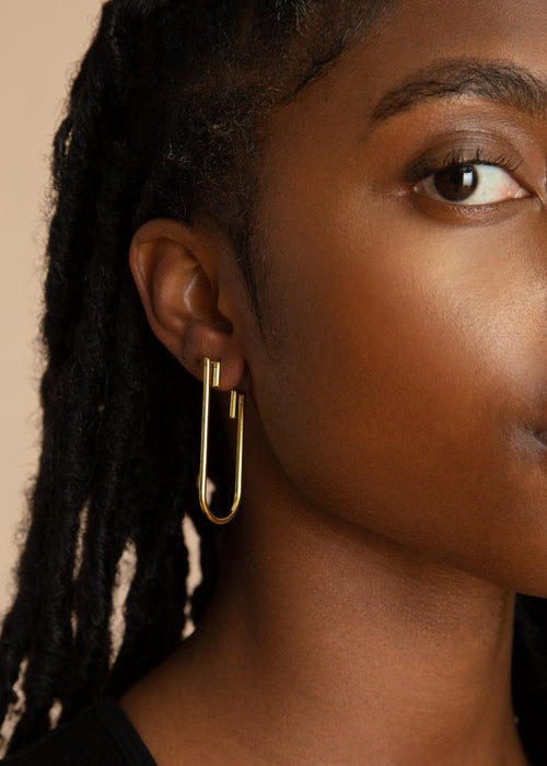 Gold Detail Drop Earrings